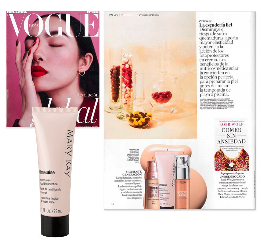 668b721559 Descubre la Base de Maquillaje líquida de Mary Kay en la revista Vogue  Belleza de abril