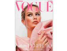 Portada revista Vogue de octubre de 2019 con productos destacados Mary Kay