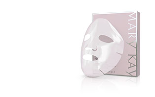 ] Learn more about the NEW TimeWise Repair Lifting Bio-Cellulose Mask from Mary Kay and how you can see a visible lift in just two weeks. The new bio-cellulose face mask is shown in the right corner in front of a purple and silver box.